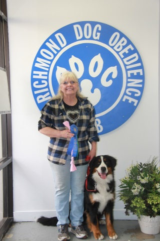 2016 Richmond Dog Obedience Dog Club Beginner Novice Award for Destiny